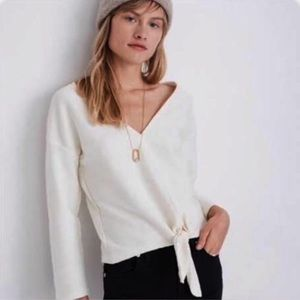 Tops - NWT MADEWELL TIE FRONT TOP NUB TEXTURE